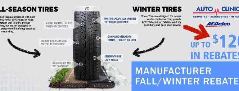 Fall/Winter Tire Rebate Specials
